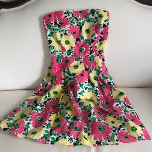 Lilly Pulitzer 🌼 Strapless Dress Size 00